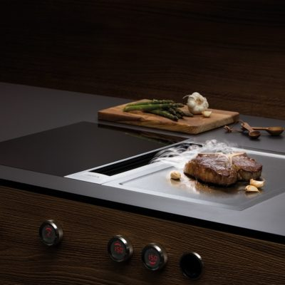 Bora Professional 2.0 Kochfelsabzug mit Tepan-Edlestahlgrill und Flächeninduktionskochfeld