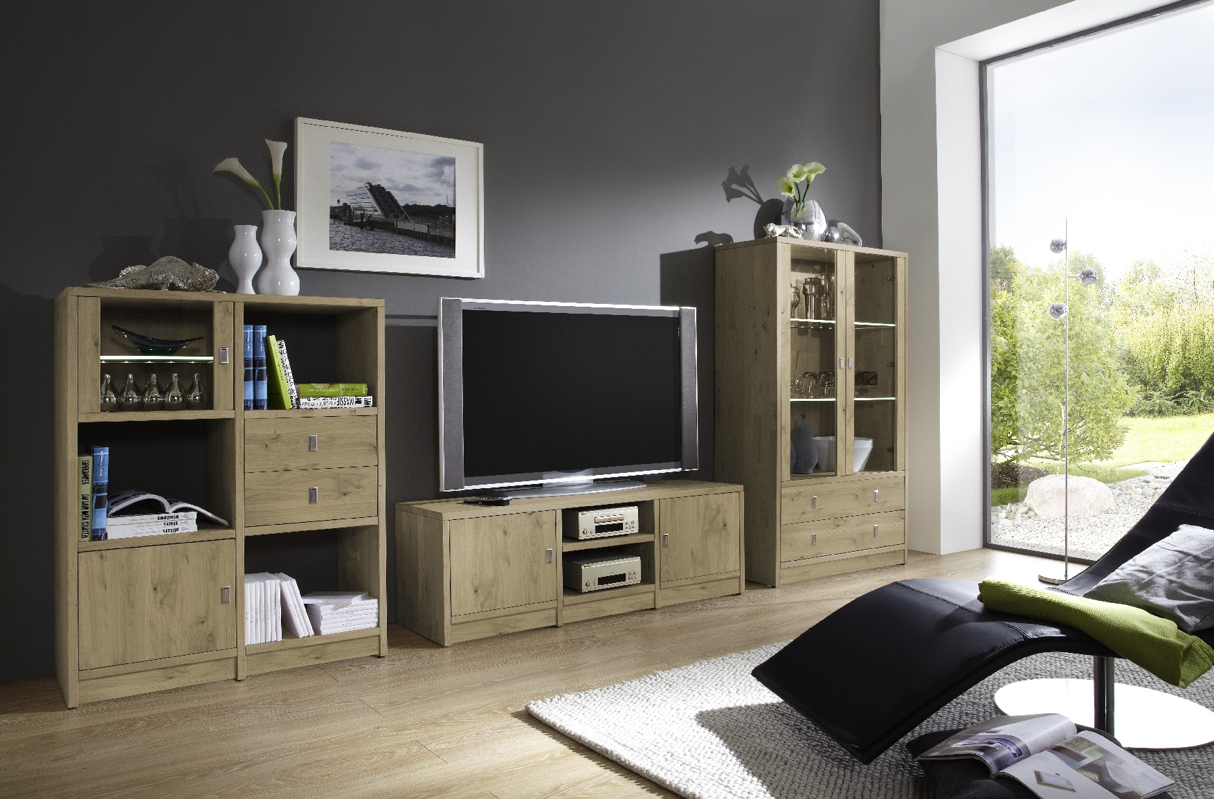 wohnwand mix it massives wohnen schulte. Black Bedroom Furniture Sets. Home Design Ideas