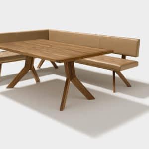 Eckbank Yps mit Tisch Yps in Nussbaum.