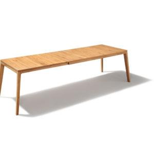Tisch Mylon in Kernbuche mit Auszug in Holz.