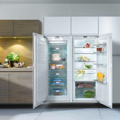 Einbau-Gefrierscnrank FNS 35402 i mit Einbau-Kühlschrank K35476 iD - Side by Side