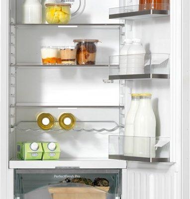 Einbau-Kühlschrank der Spezialist für Lebensmittellagerung, dank PerfectFresh Pro und DynaCool.  • Professionelle Lagerung - längere Frische mit PerfectFresh Pro  • Individuell verstellbare Glasbodenbeleuchtung dank FlexiLight  • Einlagerung von Lebensmitteln an jedem Platz - DynaCool  • Reinigung der Türabsteller im Geschirrspüler - ComfortClean  • Gedämpftes Schließen der Tür durch SoftClose