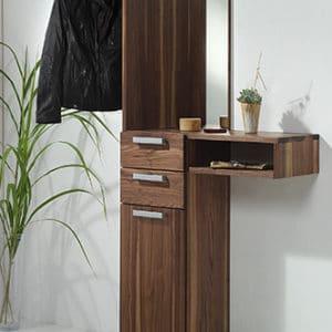 Garderobe Cubik in Nussbaum