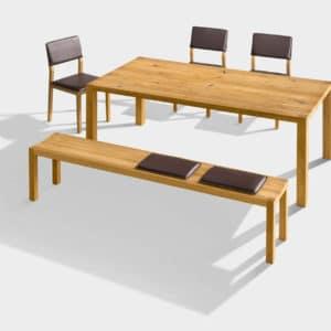 Bank Loft mit Tisch Loft in Eiche.